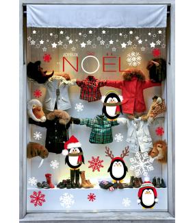 vitrine-decoration-noel-sticker-electrostatique-vitrophanie-noel-pingouins-cristaux-neige-etoiles-deco-vitres