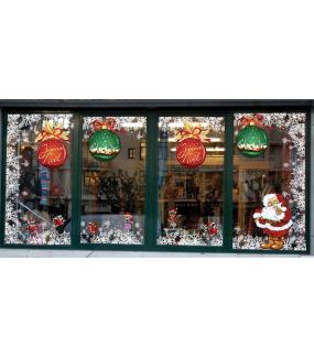 photo-decoration-vitrine-noel-petillant-sticker-vitrophanie-frises-de-cristaux-entourage-encadrement-pere-noel-traditionnel-electrostatique-sans-colle-lot-promo-DECO-VITRES-KIT333
