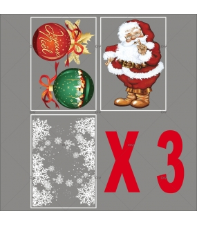 lot-promotionnel-5-stickers-vitrine-noel-petillant-frises-entourage-cristaux-pere-noel-traditionnel-boules-geantes-joyeux-noel-electrostatique-sans-colle-repositionnable-DECO-VITRES-KIT86