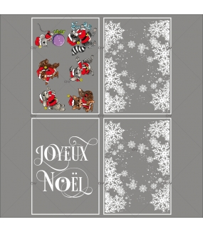 lot-promotionnel-4-stickers-vitrine-noel-petillant-frises-entourage-cristaux-animaux-deguises-texte-joyeux-noel-electrostatique-sans-colle-repositionnable-DECO-VITRES-KIT332