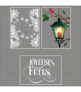lot-promotionnel-3-stickers-vitrine-noel-retro-frises-entourage-cristaux-lanterne-branches-de-houx-joyeuses-fetes-electrostatique-sans-colle-repositionnable-DECO-VITRES-KIT144