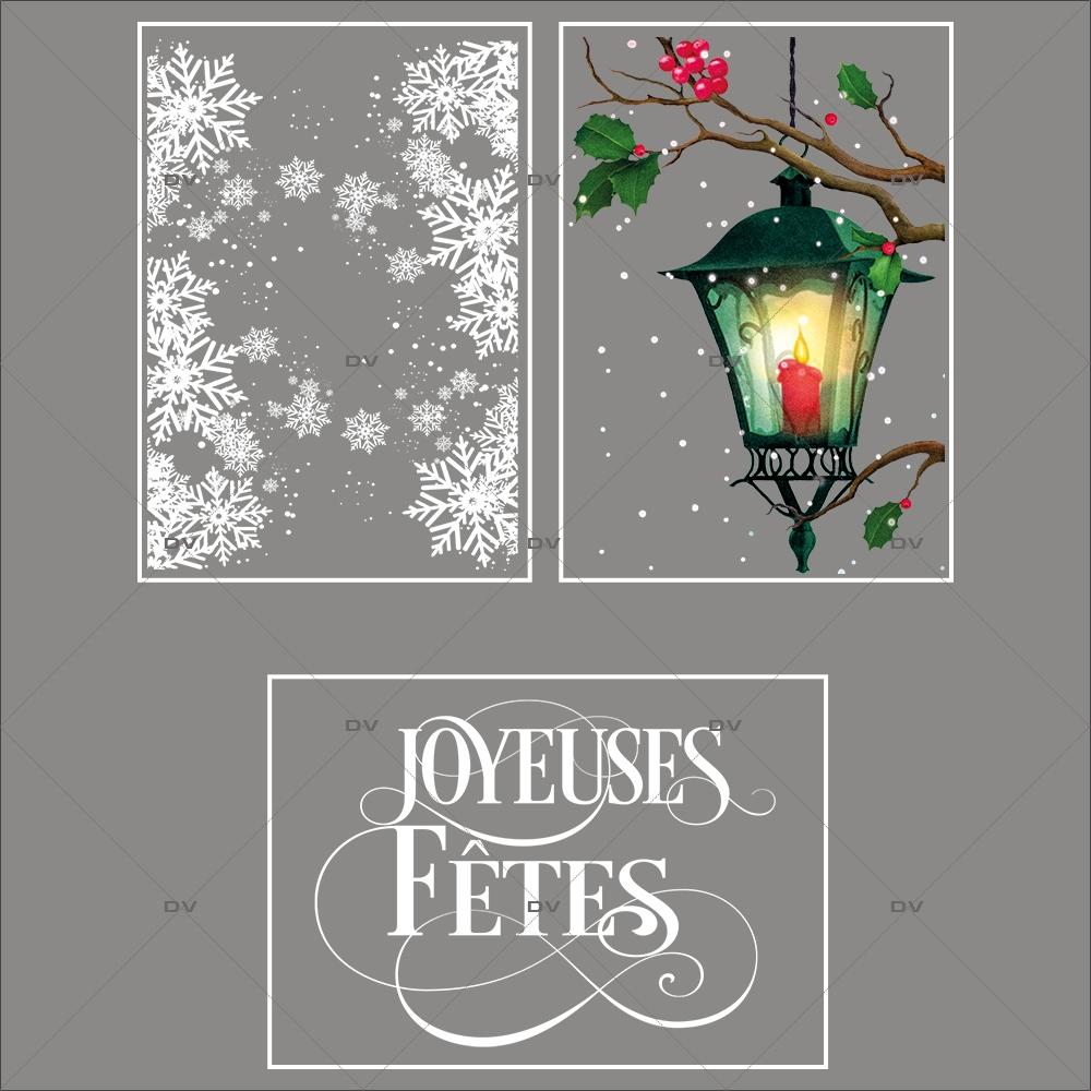 lot-promotionnel-3-stickers-vitrine-noel-retro-frises-entourage-cristaux-lanterne-branches-de-houx-joyeuses-fetes-electrostatique-sans-colle-repositionnable-DECO-VITRES-KIT144