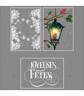 lot-promotionnel-3-stickers-vitrine-noel-retro-frises-entourage-cristaux-lanterne-branches-de-houx-joyeuses-fetes-electrostatique-sans-colle-repositionnable-DECO-VITRES-KIT145