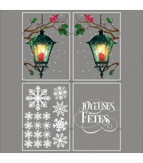 lot-promotionnel-4-stickers-vitrine-noel-retro-cristaux-lanternes-branches-de-houx-joyeuses-fetes-electrostatique-sans-colle-repositionnable-DECO-VITRES-KIT148