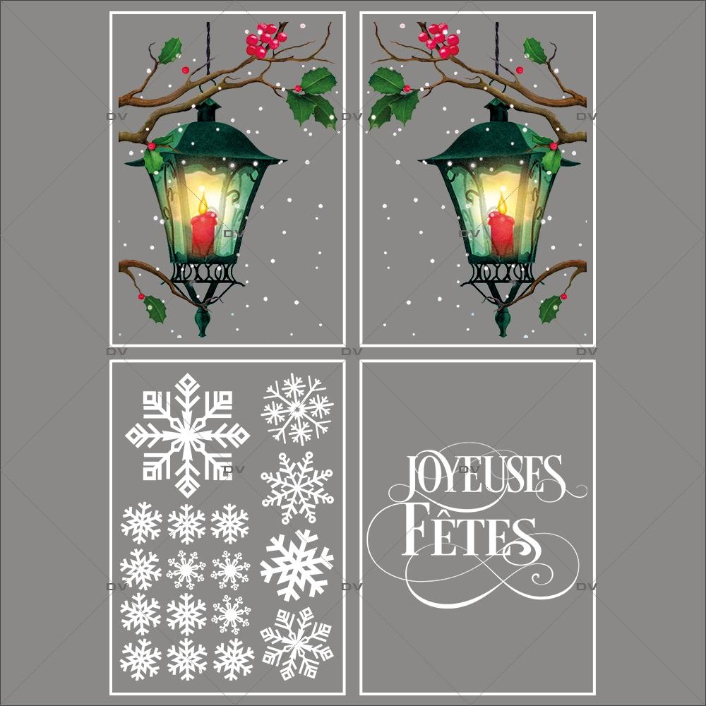 lot-promotionnel-4-stickers-vitrine-noel-retro-cristaux-lanternes-branches-de-houx-joyeuses-fetes-electrostatique-sans-colle-repositionnable-DECO-VITRES-KIT148