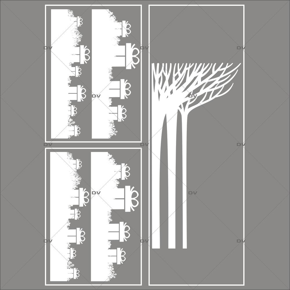 lot-promotionnel-3-stickers-vitrine-noel-paysage-givre-frises-de-cadeaux-et-cristaux-foret-arbres-givres-electrostatique-sans-colle-repositionnable-DECO-VITRES-KIT124