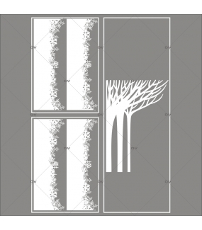 lot-promotionnel-3-stickers-vitrine-noel-paysage-givre-frises-de-cristaux-foret-arbres-givres-electrostatique-sans-colle-repositionnable-DECO-VITRES-KIT125