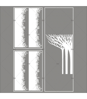 lot-promotionnel-3-stickers-vitrine-noel-paysage-givre-frises-de-cristaux-foret-arbres-givres-electrostatique-sans-colle-repositionnable-DECO-VITRES-KIT126