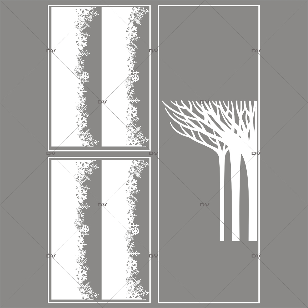 lot-promotionnel-3-stickers-vitrine-noel-paysage-givre-frises-de-cristaux-foret-arbres-givres-electrostatique-sans-colle-repositionnable-DECO-VITRES-KIT126