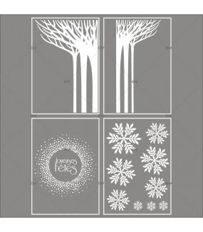 lot-promotionnel-4-stickers-vitrine-noel-paysage-givre-cristaux-foret-arbres-givres-couronne-joyeuses-fetes-flocons-electrostatique-sans-colle-repositionnable-DECO-VITRES-KIT128