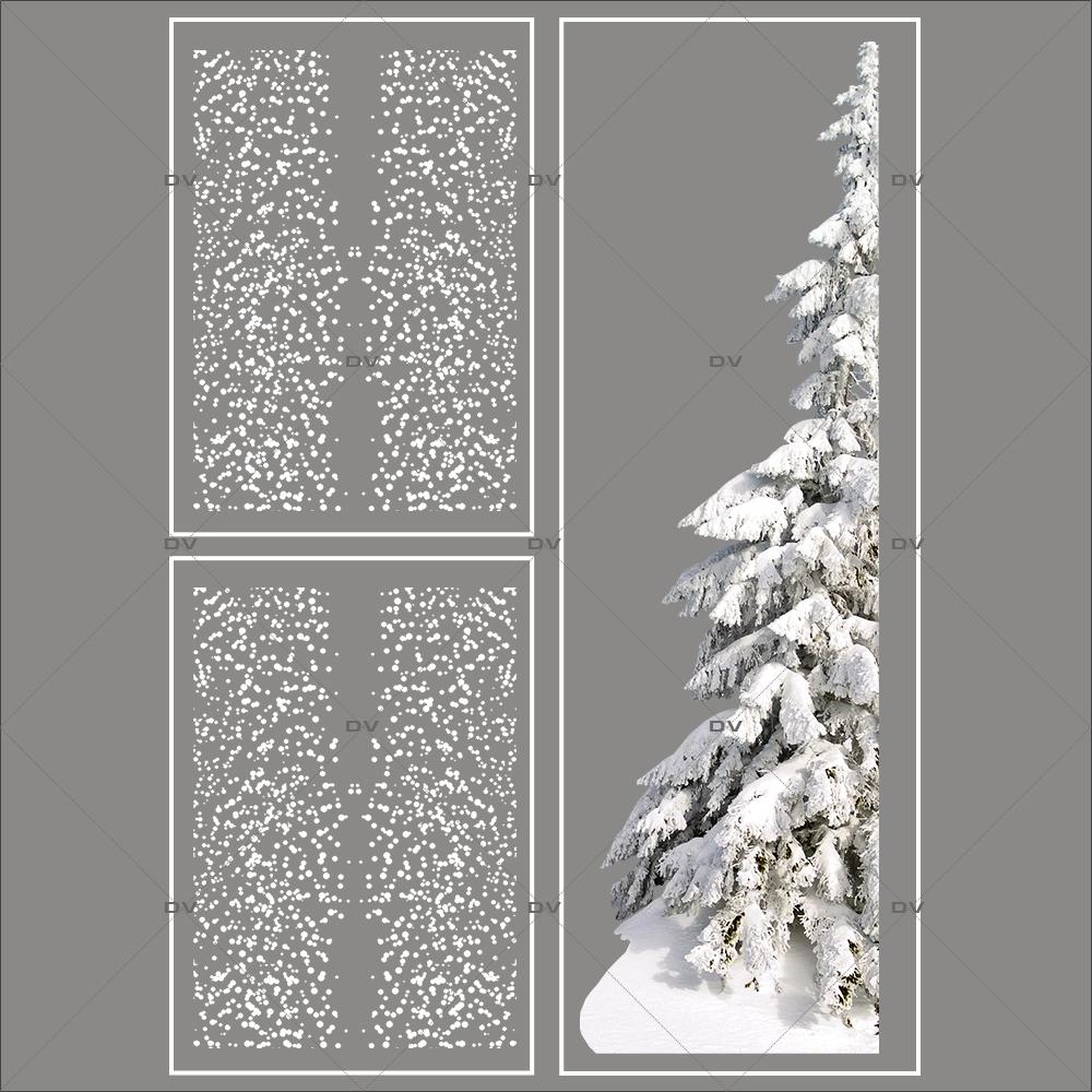 lot-promotionnel-3-stickers-vitrine-noel-polaire-frises-flocons-sapin-enneigé-electrostatique-sans-colle-repositionnable-DECO-VITRES-KIT63