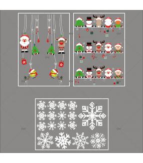lot-promotionnel-3-stickers-vitrine-noel-cartoon-cristaux-suspensions-et-etageres-decors-de-noel-pere-noel-sapin-bonhomme-de-neige-renne-lutin-oiseaux-electrostatique-sans-colle-repositionnable-DECO-VITRES-KIT138