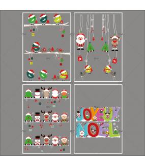 lot-promotionnel-4-stickers-vitrine-noel-cartoon-cristaux-suspensions-et-etageres-decors-de-noel-pere-noel-sapin-bonhomme-de-neige-renne-lutin-oiseaux-banderole-joyeux-noel-electrostatique-sans-colle-repositionnable-DECO-VITRES-KIT139
