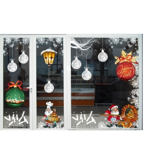 vitrine-decoration-noel-boules-effet-depoli-givre-cristaux-lanterne-pere-noel-epis-ble-boulangerie-patisserie-electrostatique-vitrophanie-DECO-VITRES