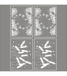 lot-promotionnel-4-stickers-vitrine-noel-gourmand-frises-entourage-cristaux-et-epis-de-ble-flocons-electrostatique-sans-colle-repositionnable-DECO-VITRES-KIT152