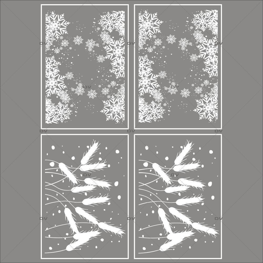 lot-promotionnel-4-stickers-vitrine-noel-gourmand-frises-entourage-cristaux-et-epis-de-ble-flocons-electrostatique-sans-colle-repositionnable-DECO-VITRES-KIT152