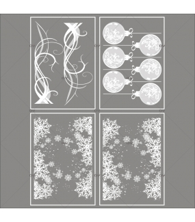 lot-promotionnel-4-stickers-vitrine-noel-opalescent-et-gourmand-frises-entourage-cristaux-volutes-boules-geantes-effet-depoli-electrostatique-sans-colle-repositionnable-DECO-VITRES-KIT155