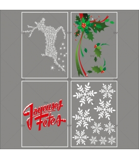 lot-promotionnel-4-stickers-vitrine-noel-old-school-angle-de-houx-texte-joyeuses-fetes-renne-cristaux-electrostatique-sans-colle-repositionnable-DECO-VITRES-KIT345