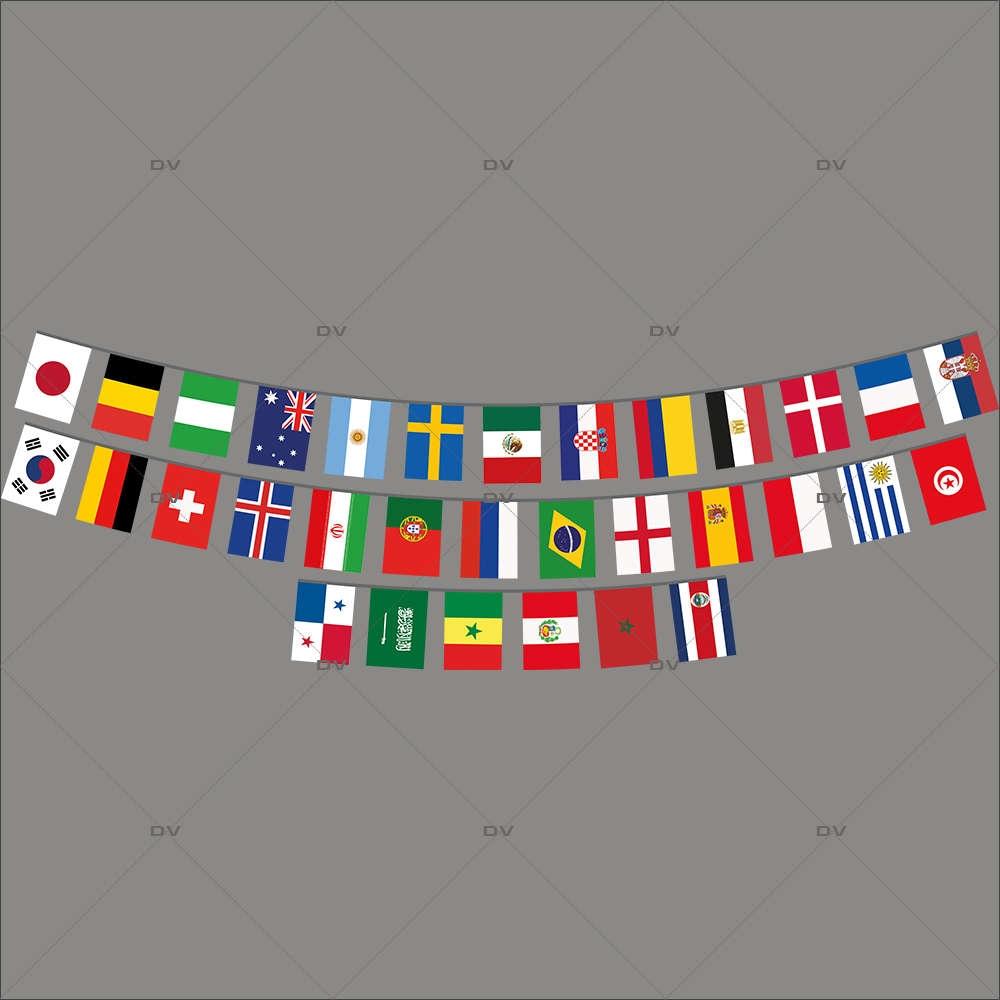 Sticker-foot-drapeaux-internationaux-français-France-vitrophanie-décoration-vitrine-événementielle-électrostatique-sports-fêtes-sans-colle-repositionnable-réutilisable-DECO-VITRES