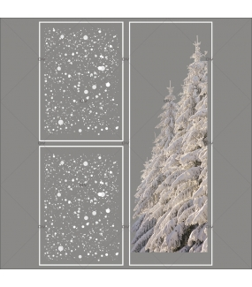 lot-promotionnel-3-stickers-vitrine-noel-polaire-frises-flocons-foret-sapins-enneigés-electrostatique-sans-colle-repositionnable-DECO-VITRES-KIT65