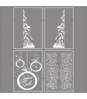 lot-promotionnel-4-stickers-vitrine-noel-polaire-sapins-enneiges-boules-joyeux-noel-frises-de-flocons-electrostatique-sans-colle-repositionnable-DECO-VITRES-KIT67