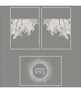 lot-promotionnel-3-stickers-vitrine-noel-nature-branchages-enneiges-givrés-hiver-couronne-joyeuses-fetes-flocons-electrostatique-sans-colle-repositionnable-DECO-VITRES-KIT71