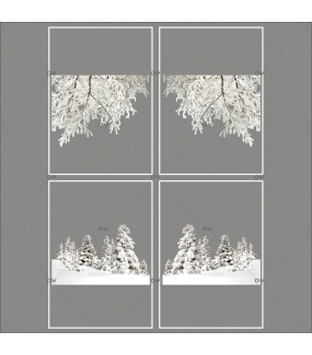 lot-promotionnel-3-stickers-vitrine-noel-nature-branchages-givres-et-sapins-enneiges-hiver-sports-neige-electrostatique-sans-colle-repositionnable-DECO-VITRES-KIT306
