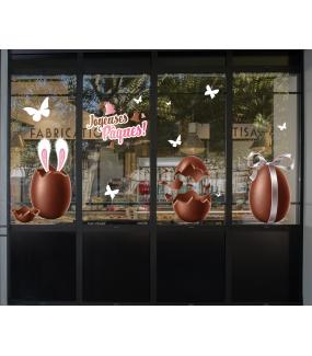 photo-sticker-oeuf-de-paques-chocolat-oreilles-lapin-papillons-cloches-texte-joyeuses-paques-decoration-vitrine-vitrophanie-electrostatique-sans-colle-reutilisable-DECO-VITRES