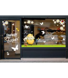 photo-sticker-lapin-oeuf-fleurs-frises-herbe-papillons-abeilles-coccinelle-texte-joyeuses-paques-blanc-decoration-vitrine-vitrophanie-electrostatique-sans-colle-reutilisable-DECO-VITRES