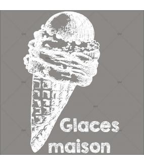 Sticker-cornet-de-glace-maison-blanc-vitrophanie-décoration-vitrine-spécial-boulangerie-pâtisserie-salon-de-thé-électrostatique-sans-colle-repositionnable-réutilisable-DECO-VITRES