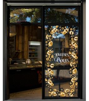 photo-sticker-oeuf-de-paques-dores-noirs-fleurs-stylisees-texte-joyeuses-paques-decoration-vitrine-vitrophanie-electrostatique-sans-colle-reutilisable-DECO-VITRES