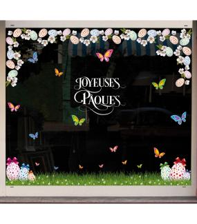 photo-sticker-frise-geante-oeufs-herbe-herbe-papillons-fleurs-de-cerisier-texte-joyeuses-paques-volutes-decoration-vitrine-vitrophanie-electrostatique-sans-colle-reutilisable-DECO-VITRES