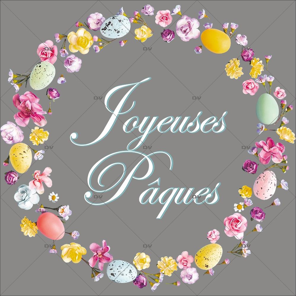 sticker-couronne-fleurie-oeufs-de-paques-fleurs-roses-cerisier-printemps-texte-joyeuses-paques-decoration-vitrine-vitrophanie-electrostatique-sans-colle-reutilisable-DECO-VITRES-PAQ110