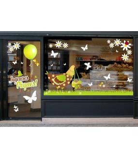 photo-sticker-poule-ruban-oeufs-frises-herbe-paquerettes-abeilles-coccinelle-papillons-texte-joyeuses-paques-vert-chocolat-cloches-ballon-anis-decoration-vitrine-vitrophanie-electrostatique-sans-colle-reutilisable-DECO-VITRES