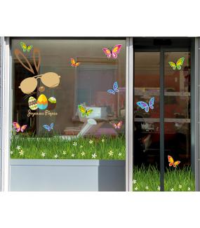 photo-sticker-lapin-oeufs-texte-joyeuses-paques-frise-herbes-papillons-multicolores-decoration-vitrine-vitrophanie-electrostatique-sans-colle-reutilisable-DECO-VITRES
