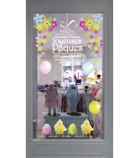photo-sticker-frises-oeufs-et-poussins-angles-de-fleurs-multicolores-ballons-texte-joyeuses-paques-decoration-vitrine-paques-vitrophanie-electrostatique-sans-colle-reutilisable-DECO-VITRES