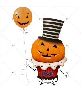 sticker-citrouille-halloween-cup-cake-ballon-haut-de-forme-boulangerie-patisserie-vitrophanie-electrostatique-sans-colle-repositionnable-DECO-VITRES-HALL93