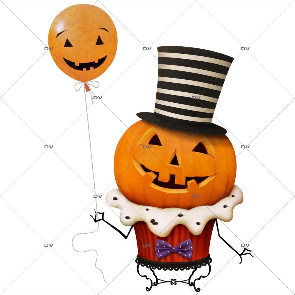 sticker-citrouille-halloween-cup-cake-ballon-haut-de-forme-boulangerie-patisserie-vitrophanie-electrostatique-sans-colle-repositionnable-DECO-VITRES-HALL93