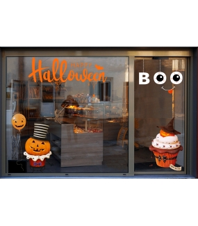 vitrine-halloween-stickers-electrostatiques-vitrophanie-boulangerie-patisserie-citrouilles-ballon-gateau-cup-cake-boo-texte-happy-halloween-toiles-araignee-deco-vitres