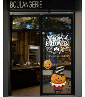 vitrine-halloween-stickers-electrostatiques-vitrophanie-boulangerie-patisserie-citrouille-ballon-gateau-cup-cake-boo-texte-happy-halloween-deco-vitres