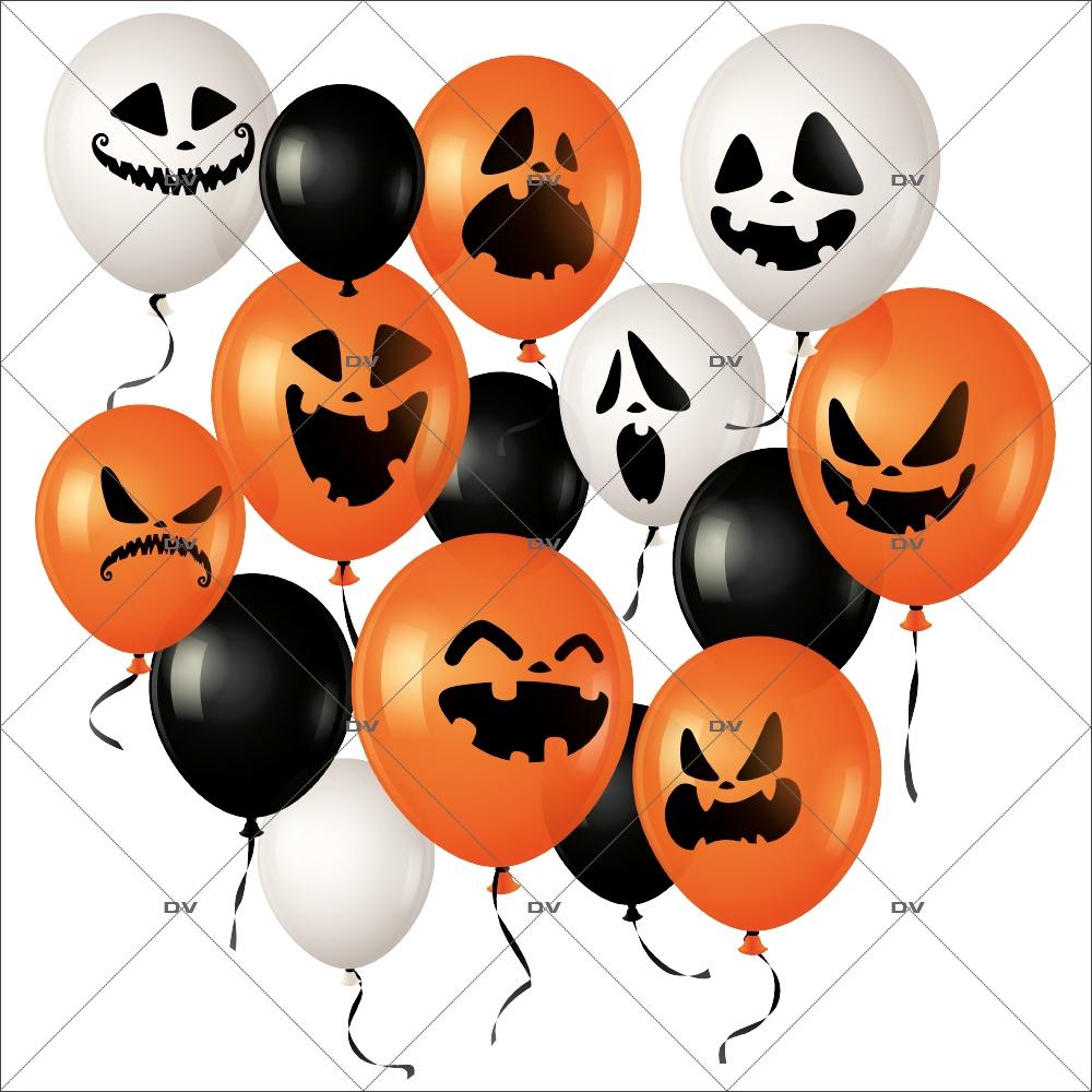 sticker-ballons-halloween-orange-noirs-blancs-citrouille-fantome-effrayant-boulangerie-patisserie-vitrophanie-electrostatique-sans-colle-repositionnable-DECO-VITRES-HALL94