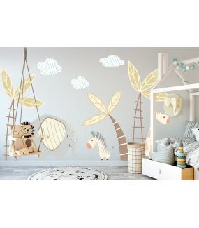 photo-stickers-jungle-chambre-enfant-girafe-palmiers-zebre-elephant-nuage-tissu-enlevable-encres-ecologiques-latex-sans-pvc-deco-vitres
