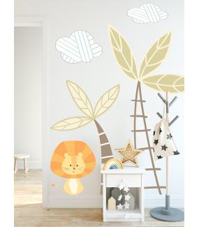 photo-stickers-jungle-chambre-enfant-lion-palmiers-nuages-tissu-enlevable-encres-ecologiques-latex-sans-pvc-deco-vitres