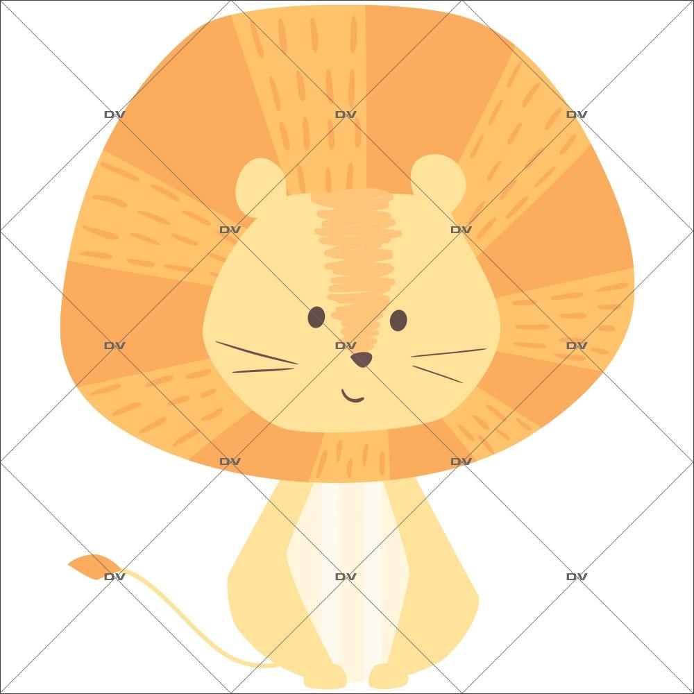 sticker-lion-jungle-chambre-enfant-tissu-enlevable-encres-ecologiques-latex-sans-pvc-DECO-VITRES-ST129