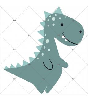 sticker-gentil-dinosaure-tyrex-rieur-tyranosaure-prehistoire-chambre-bébé-fille-enfant-tissu-adhesif-enlevable-encres-ecologiques-latex-sans-pvc-DECO-VITRES-ST146