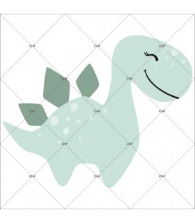 sticker-gentil-dinosaure-rieur-stegosaure-prehistoire-chambre-bébé-fille-enfant-tissu-adhesif-enlevable-encres-ecologiques-latex-sans-pvc-DECO-VITRES-ST144