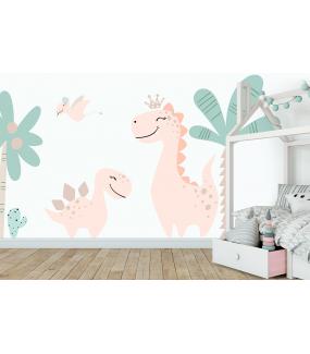 photo-stickers-dinosaures-prehistoire-cactus-et-plantes-geantes--chambre-enfant-tissu-adhesif-enlevable-encres-ecologiques-latex-sans-pvc-deco-vitres