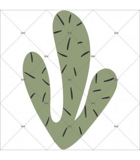 sticker-cactus-3-bras-prehistoire-chambre-bébé-fille-enfant-tissu-adhesif-enlevable-encres-ecologiques-latex-sans-pvc-DECO-VITRES-ST148