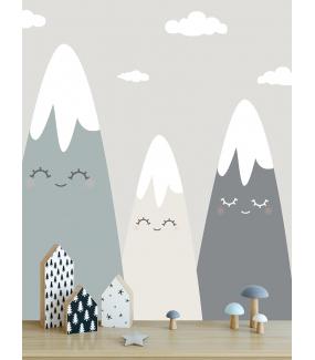 photo-stickers-montagnes-rieuses-soleil-et-nuages-chambre-enfant-tissu-adhesif-enlevable-encres-ecologiques-latex-sans-pvc-deco-vitres