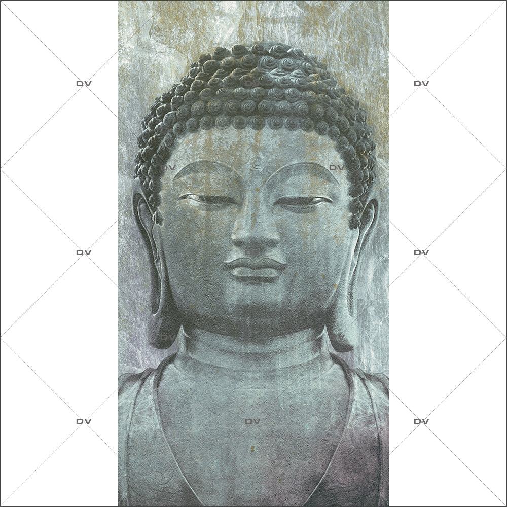 Sticker-géant-bouddha-asiatique-ambiance-zen-adhésif-encres-écologiques-latex-décoration-intérieure-DECO-VITRES